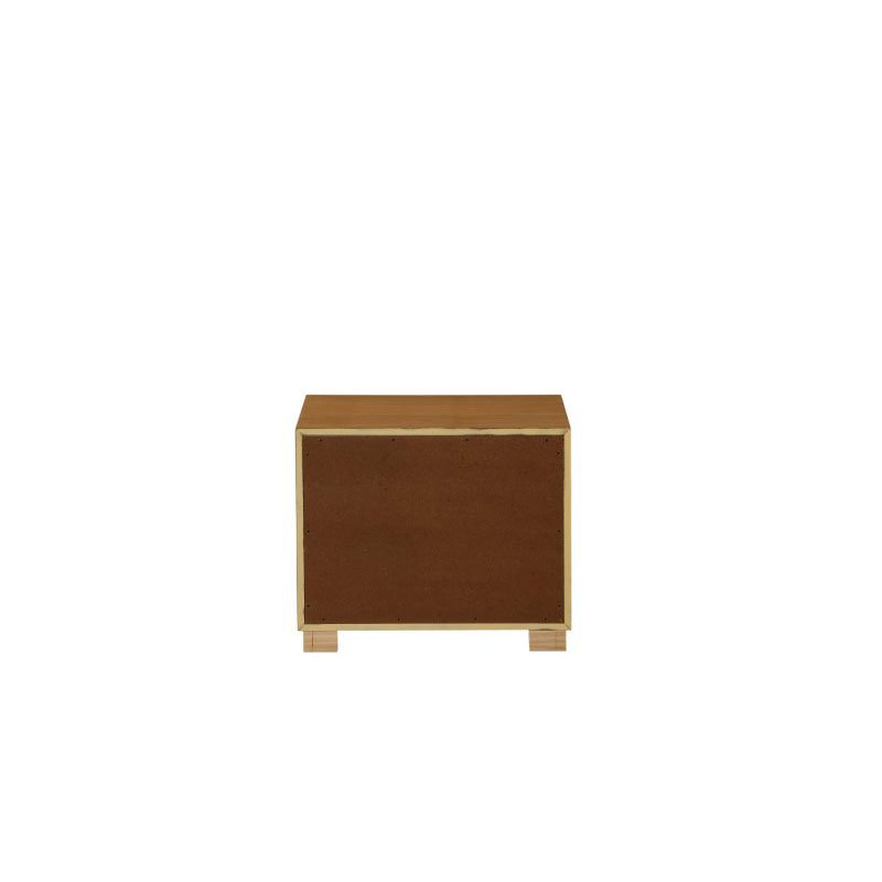 HomeRoots Furniture Nightstand in Natural - MDF, Poplar, Plywood (319119)