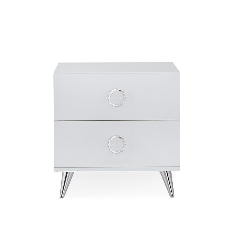 HomeRoots Furniture Nightstand in White - Particle Board , MDF White (286440)