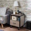 HomeRoots Furniture Nightstand, Rustic Natural & Black - Particle Board, MDF Rustic Natural & Black (286122)