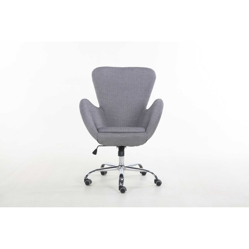 HomeRoots Furniture Office Chair, Black & Gray - PU, Mesh Black & Gray (286077)