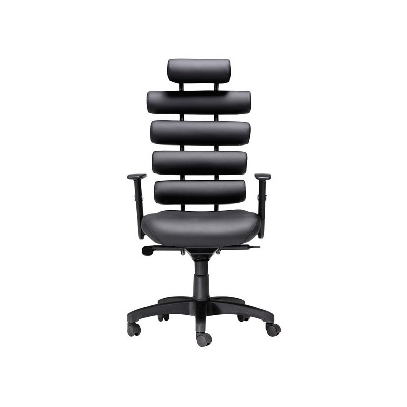 HomeRoots Furniture Office Chair Black - Leatherette Painted Metal (248962)