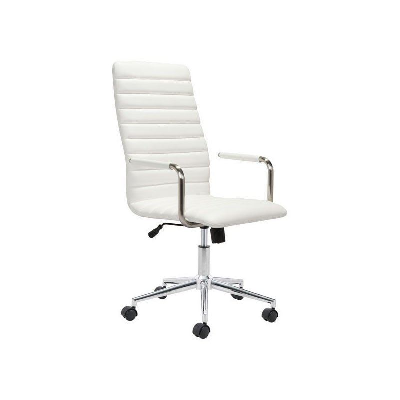 HomeRoots Furniture Office Chair White (296268)