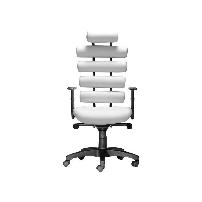 HomeRoots Furniture Office Chair White - Leatherette Painted Metal (248963)