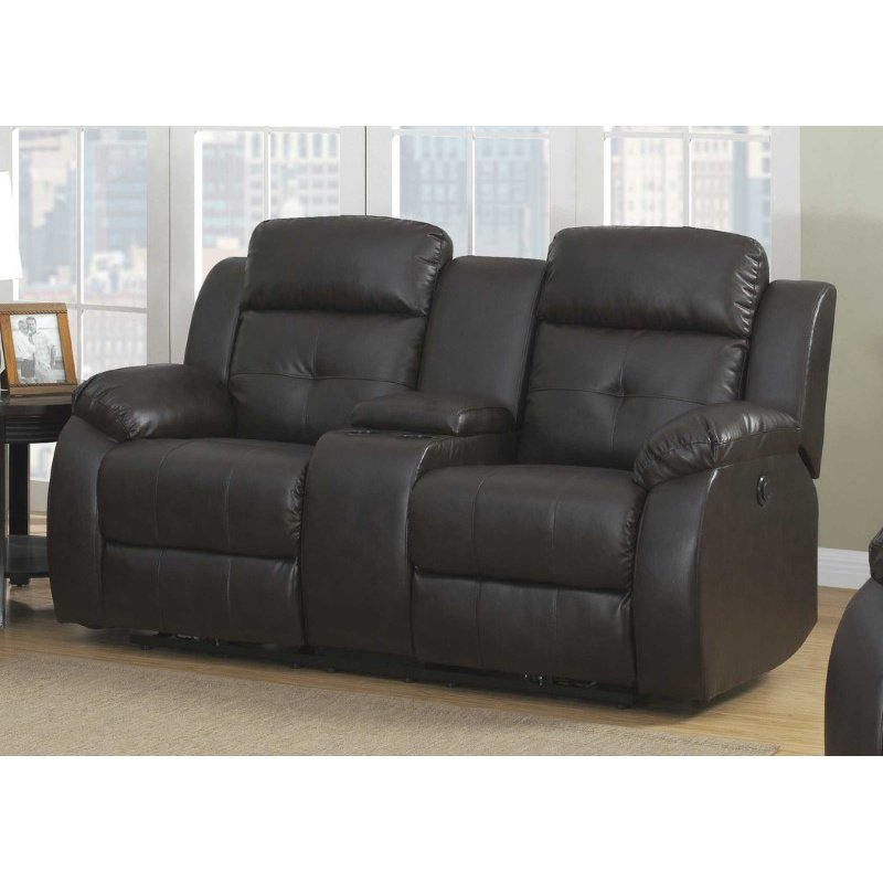 HomeRoots Furniture Power 2-Piece Transitional Reclining Living Room Set (248044)