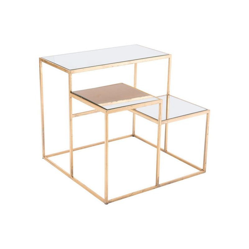 HomeRoots Furniture Table Gold Steel (295799)