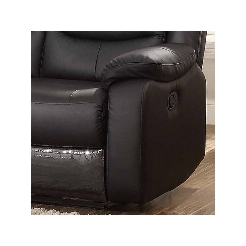 HomeRoots Furniture Transitional Glider Reclining Sofa, Loveseat and Glider Reclining Chair, 3-Piece Set (247968)