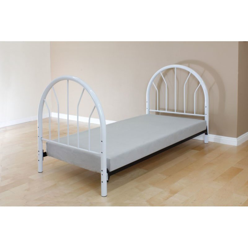 HomeRoots Furniture Twin Headboard and Footboard Only, White - Metal Tube White (286583)