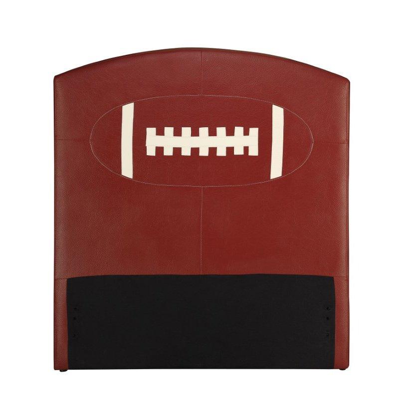 HomeRoots Furniture Twin Headboard Only, Football - PU, Wood, Plywood, FR Foa Football (285326)