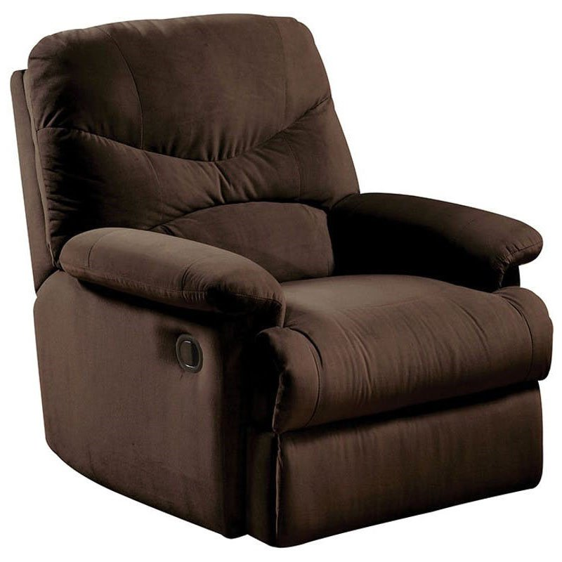 HomeRoots Furniture Upholstered Motion Recliner - Chocolate (320535)