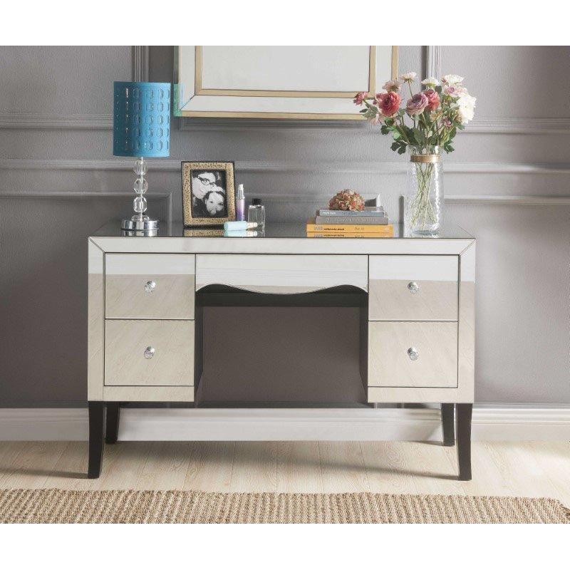 HomeRoots Furniture Vanity Desk in Mirrored - Mirror, MDF (319055)