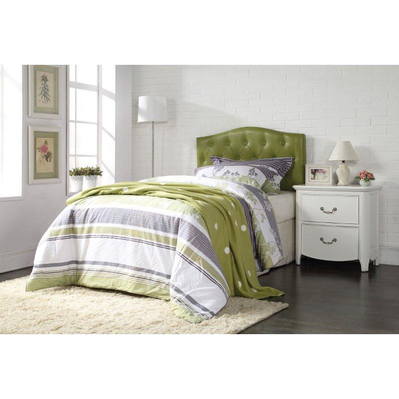 HomeRoots Furniture Viola Queen/Full Headboard Only, Green PU (285333)
