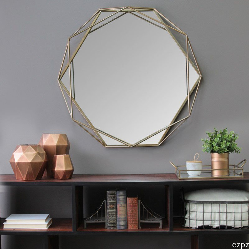HomeRoots Furniture Wall Mirror Octagon-Shaped (321220)
