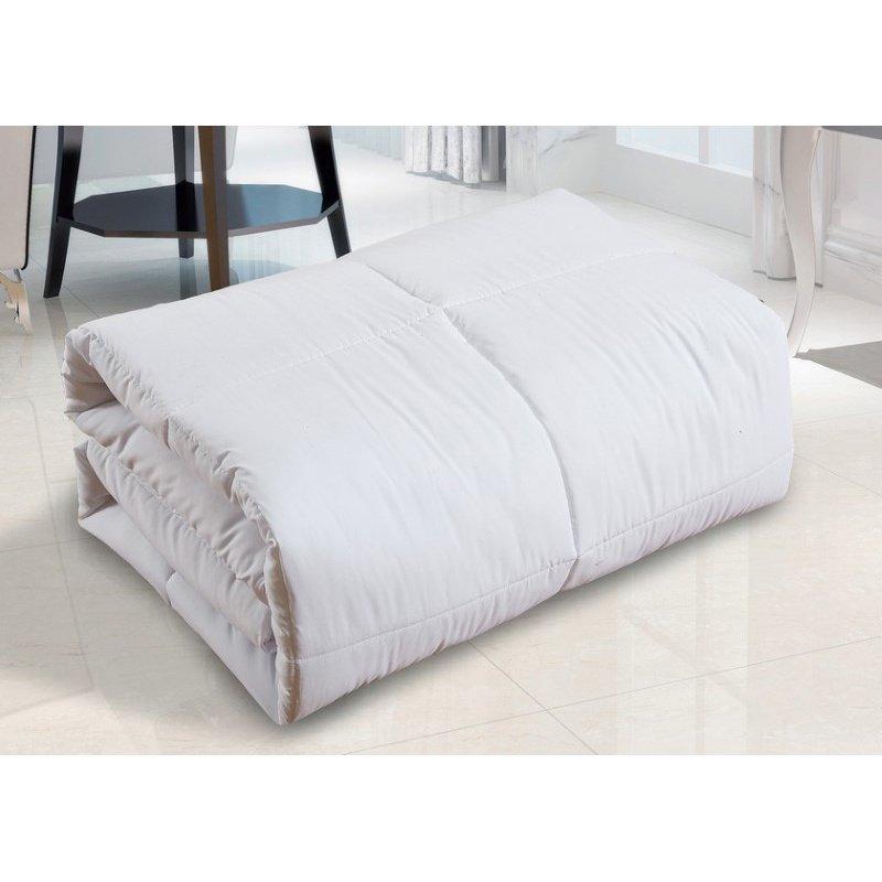 HomeRoots Furniture White Polyester Medium Warmth King Down Alternative Comforter Duvet insert, 88 x 88 (248178)