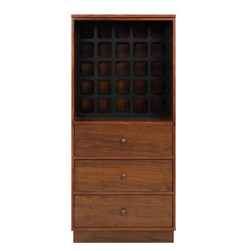 HomeRoots Furniture Wine Cabinet in Walnut - MDF (319127)