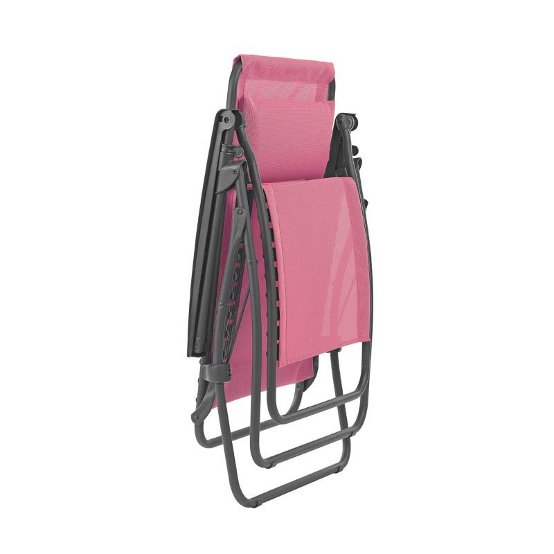HomeRoots Furniture Zero Gravity Recliner - Basalt Steel Frame - Begonia Fabric (320586)