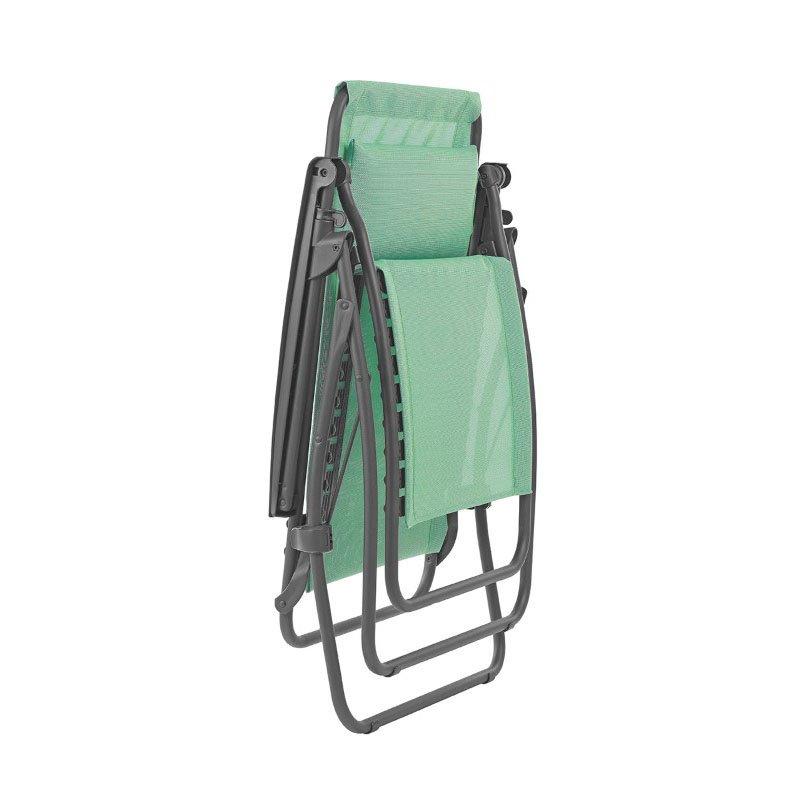 HomeRoots Furniture Zero Gravity Recliner - Basalt Steel Frame - Menthol Fabric (320588)