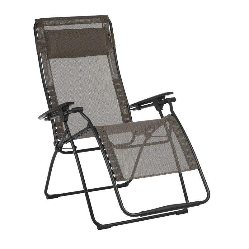 HomeRoots Furniture Zero Gravity Recliner - Black Steel Frame - Graphite Fabric (320599)