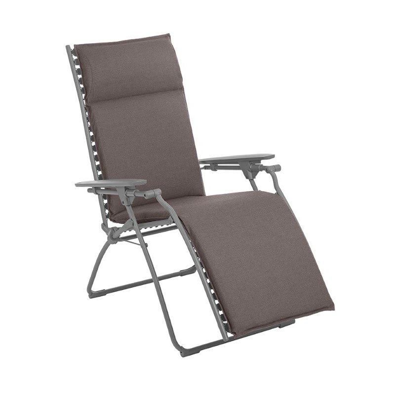 HomeRoots Furniture Zero Gravity Recliner - Titane Steel Frame - Expresso Hedona Fabric (320584)