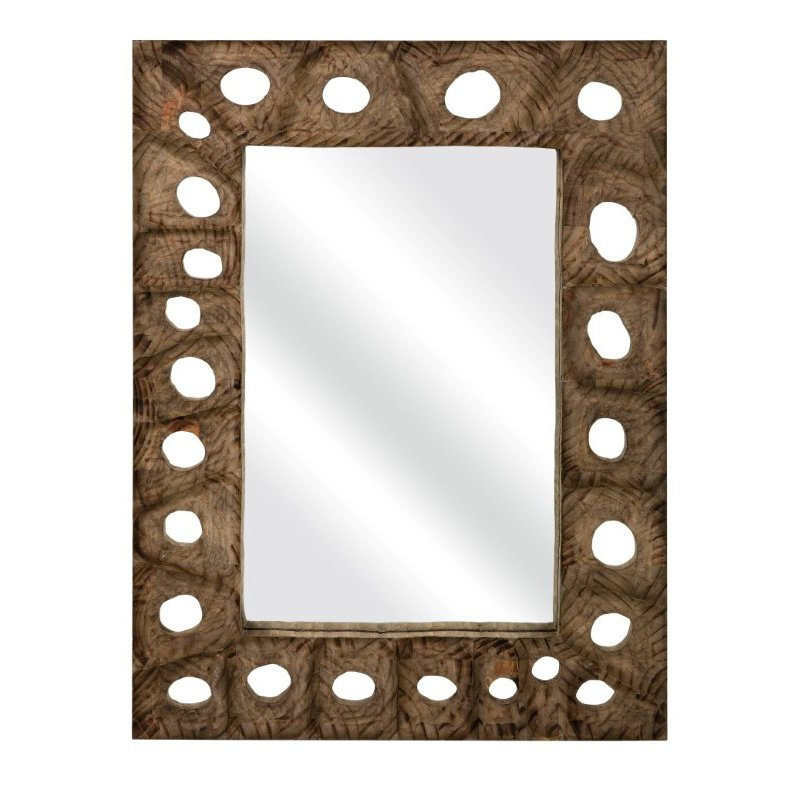 IMAX Aiden Carved Wood Mirror (75041)