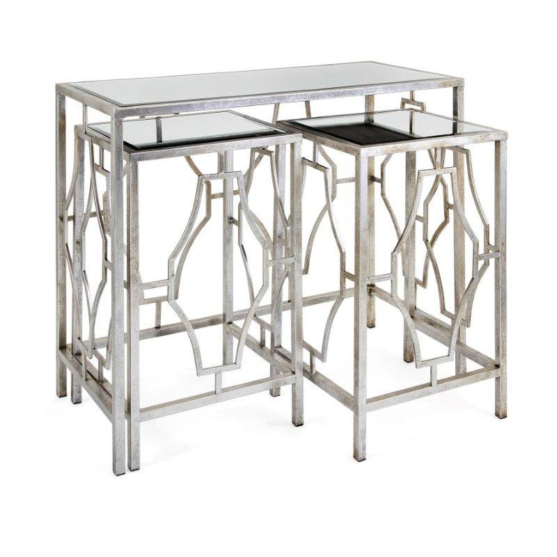 IMAX Armando Mirror Tables - Set of 3 (72241-3)