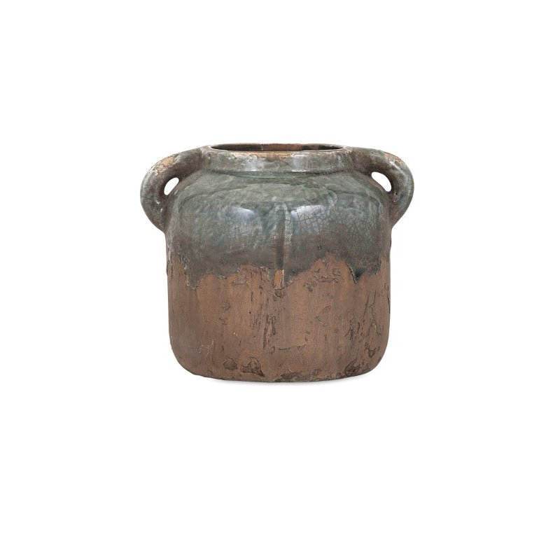 IMAX Bardot Small Blue Stone Ceramic Vase (13326)