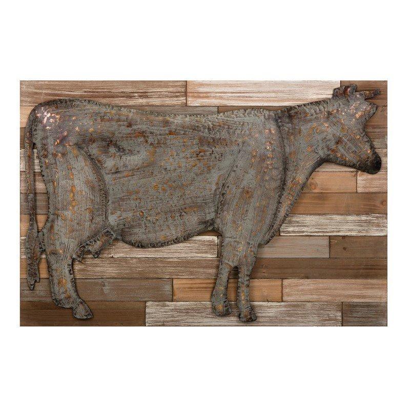 IMAX Bell Metal Cow Wall Decor (64434)
