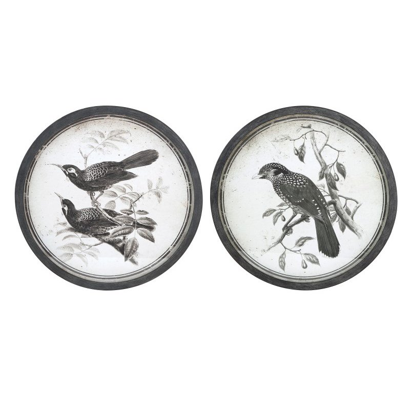 IMAX Black and White Bird Wall Decor - Set of 2 (A0297324)