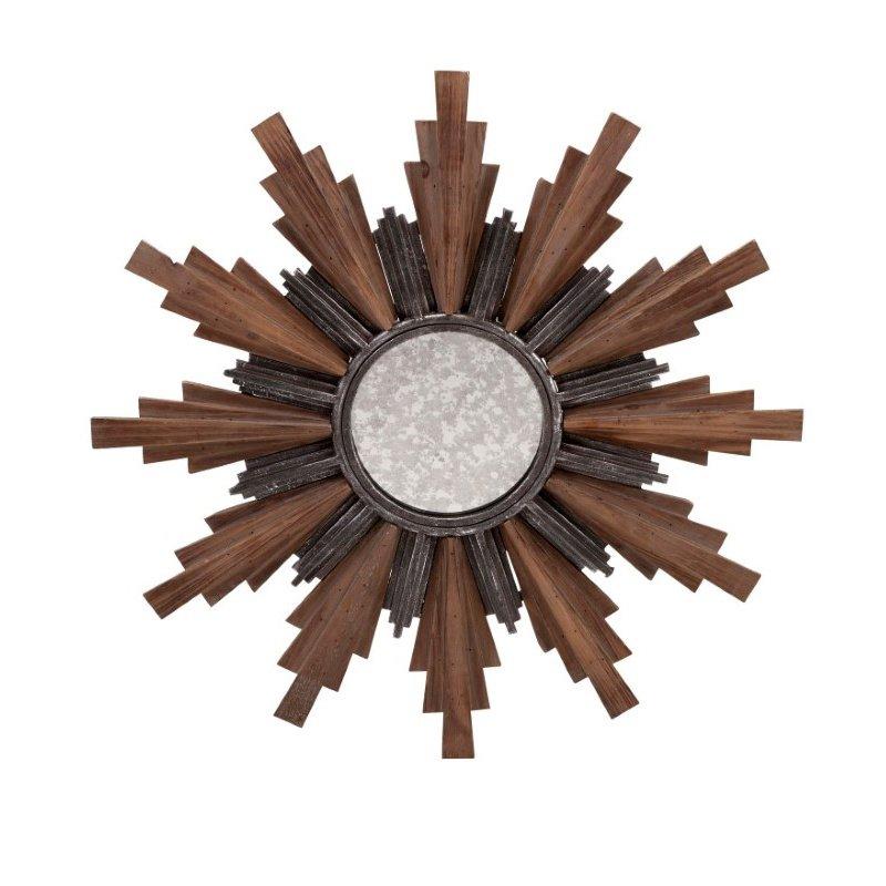 IMAX Caldwell Small Wood and Iron Wall Mirror (85466)