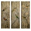 IMAX Calima Bird Wall Decor - Set of 3 (27626-3)