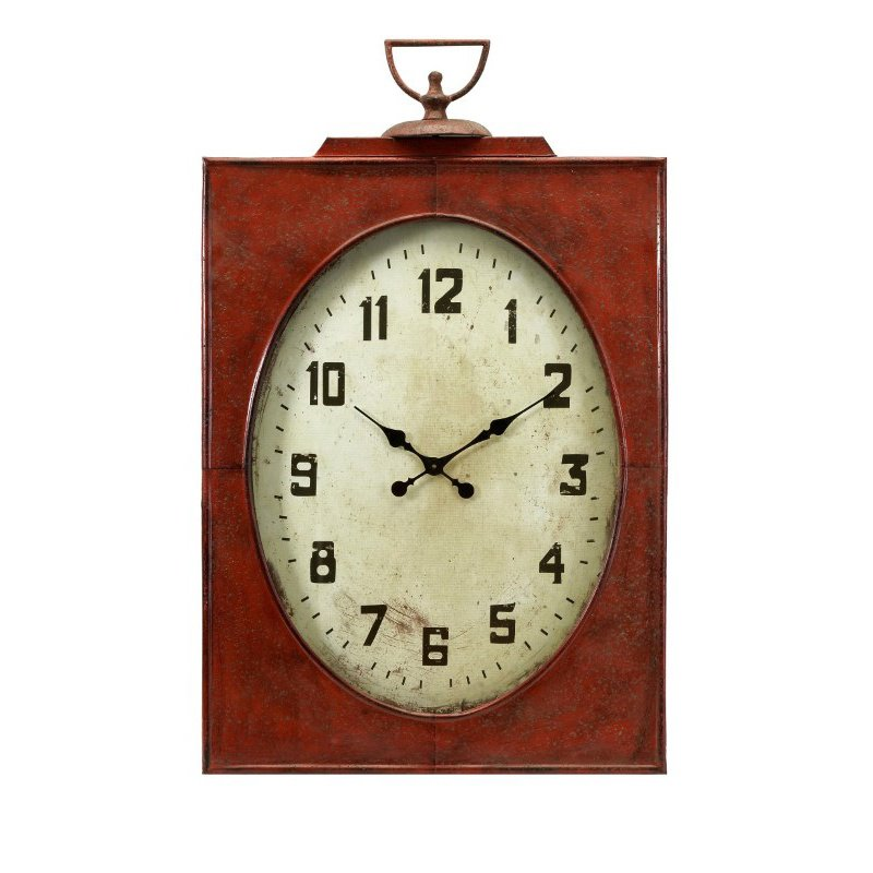 IMAX Carnen Oversized Red Wall Clock (47329)