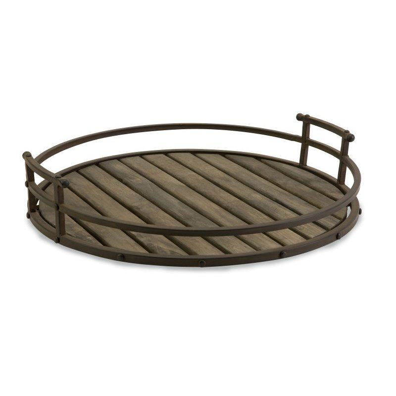 IMAX CKI Vermont Iron and Wood Tray (10812)