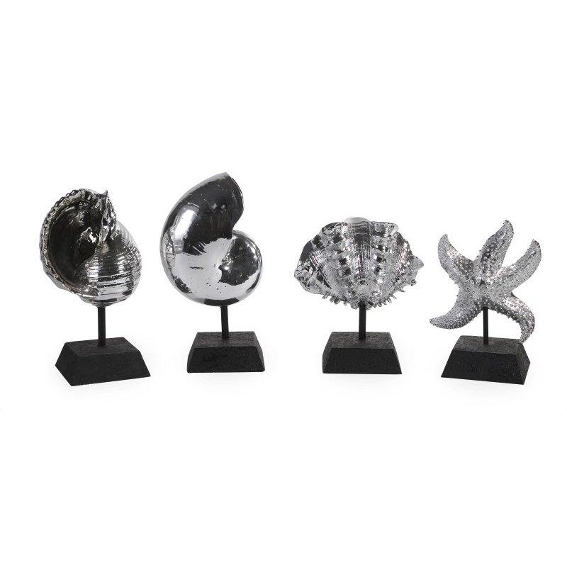 IMAX Decorative Silver Shells - Set of 4 (1403-4)