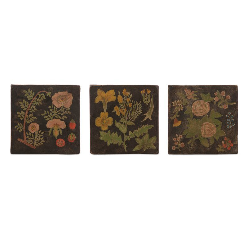 IMAX Delia Hand-painted Wall Panels - Set of 3 (A0373160)