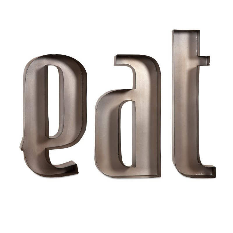 IMAX Eat Metal Wall Letters (88439)