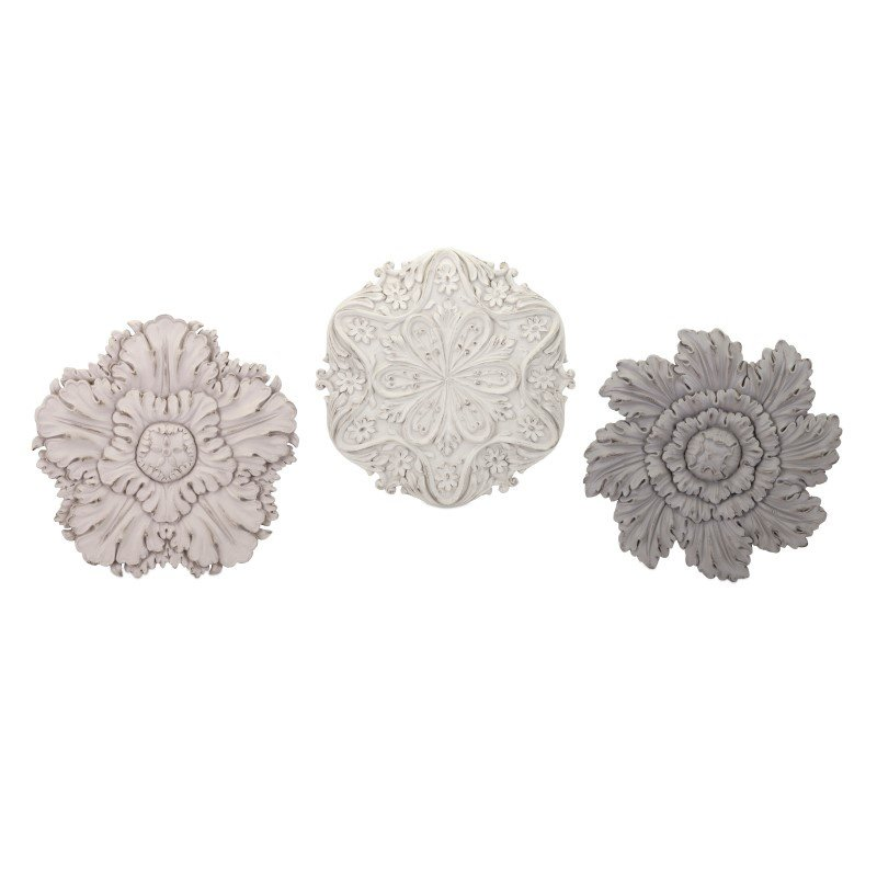 IMAX Ella Elaine Dimensional Wall Flowers - Set of 3 (A0380046)