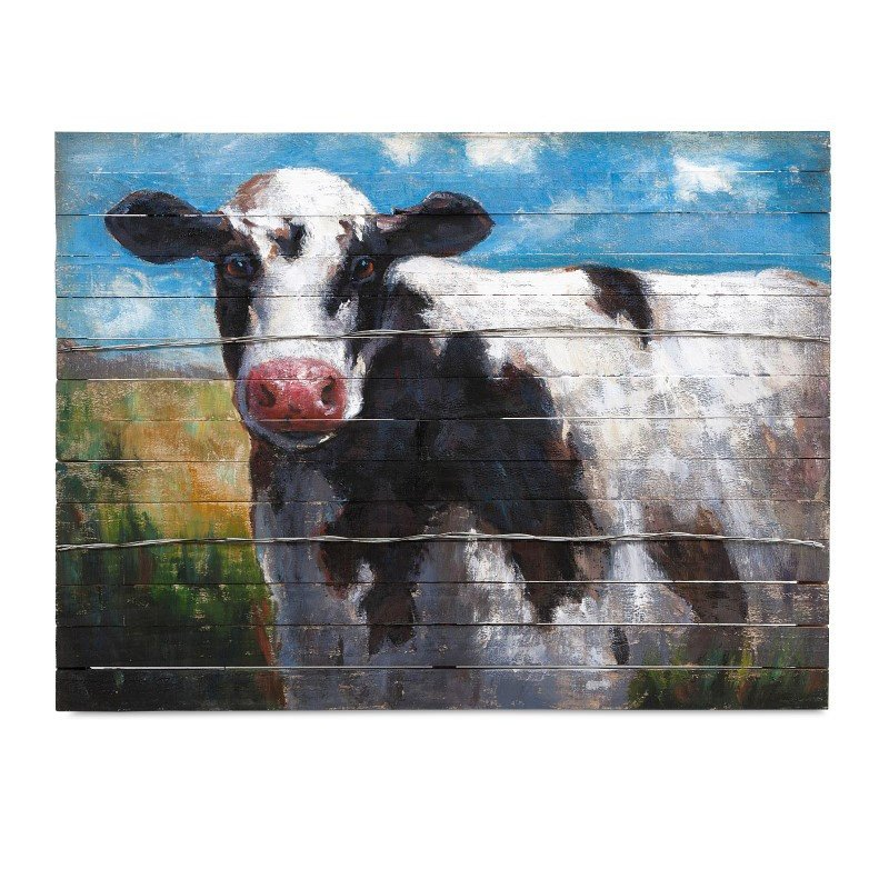 IMAX Ella Elaine Lester Cow Oil Painting (76239)