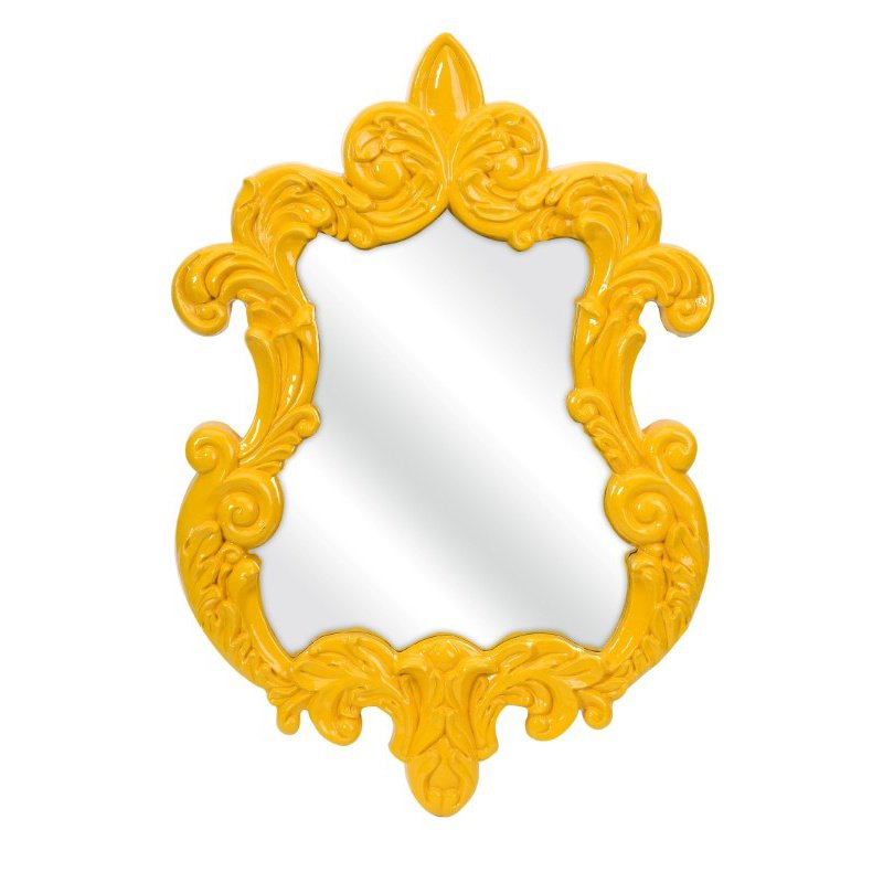 IMAX Finely Yellow Baroque Wall Mirror (47381)