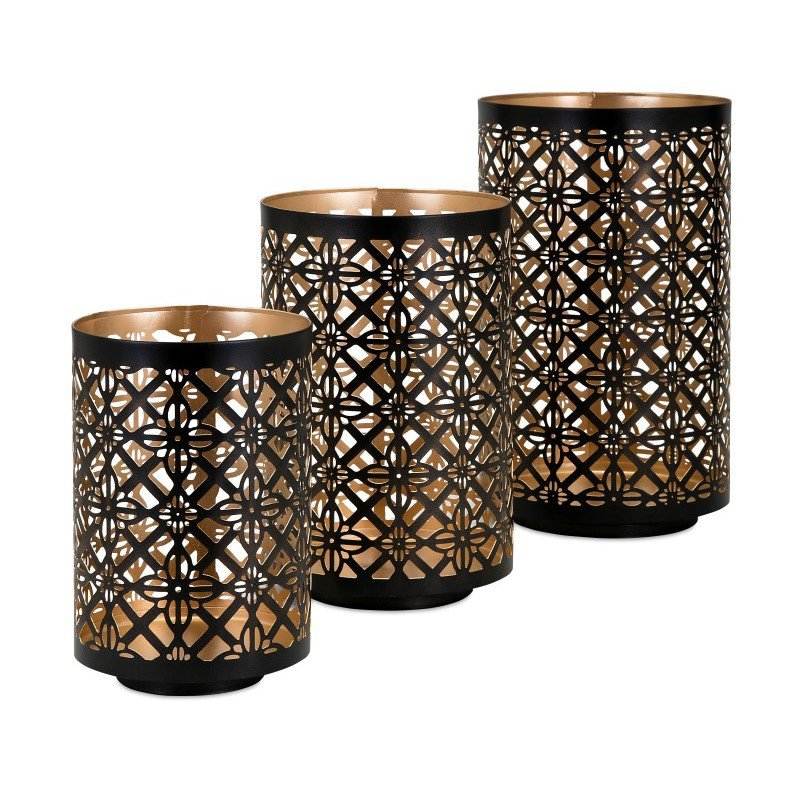 IMAX Helena Pierced Lanterns - Set of 3 (14313-3)