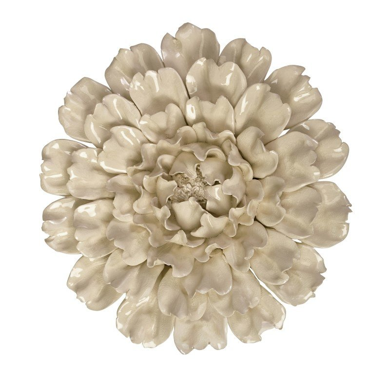 IMAX Isabella Large Ceramic Wall Decor Flower (64194)