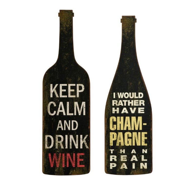 IMAX Lasalle Wine and Champagne Wall Decor - Set of 2 (27678-2)