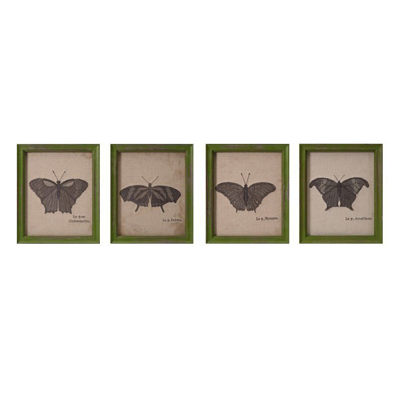 IMAX Lavoie Embroidered Butterfly Wall Decor - Set of 4 (A0497284)