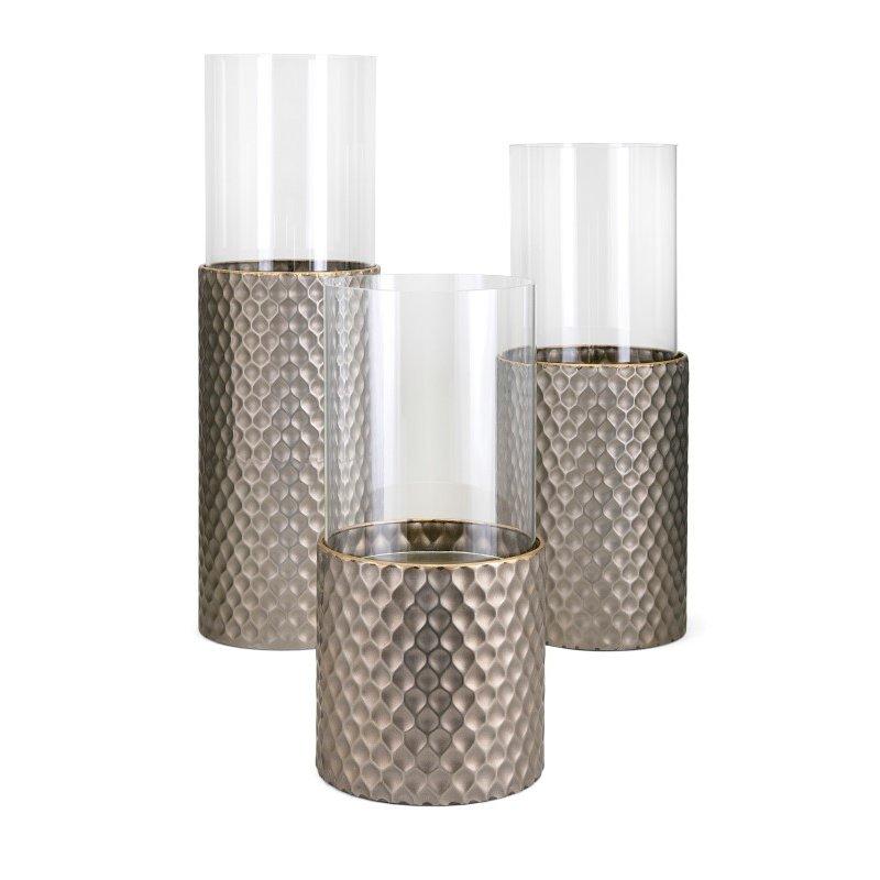 IMAX Leila Candleholders - Set of 3 (14608-3)