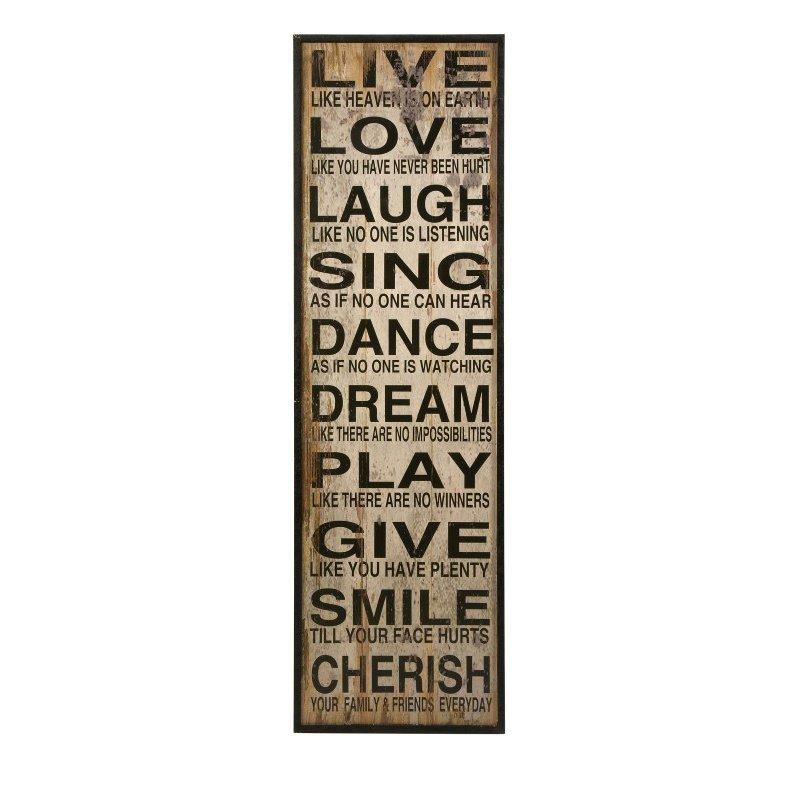 IMAX Live Love Laugh Wall Decor (89006)