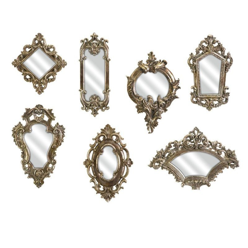 IMAX Loletta Victorian Inspired Mirrors - Set of 7 (52977-7)