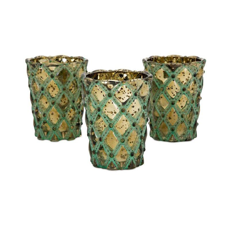 IMAX Lumina Glass Candleholders with Gift Box (14384)