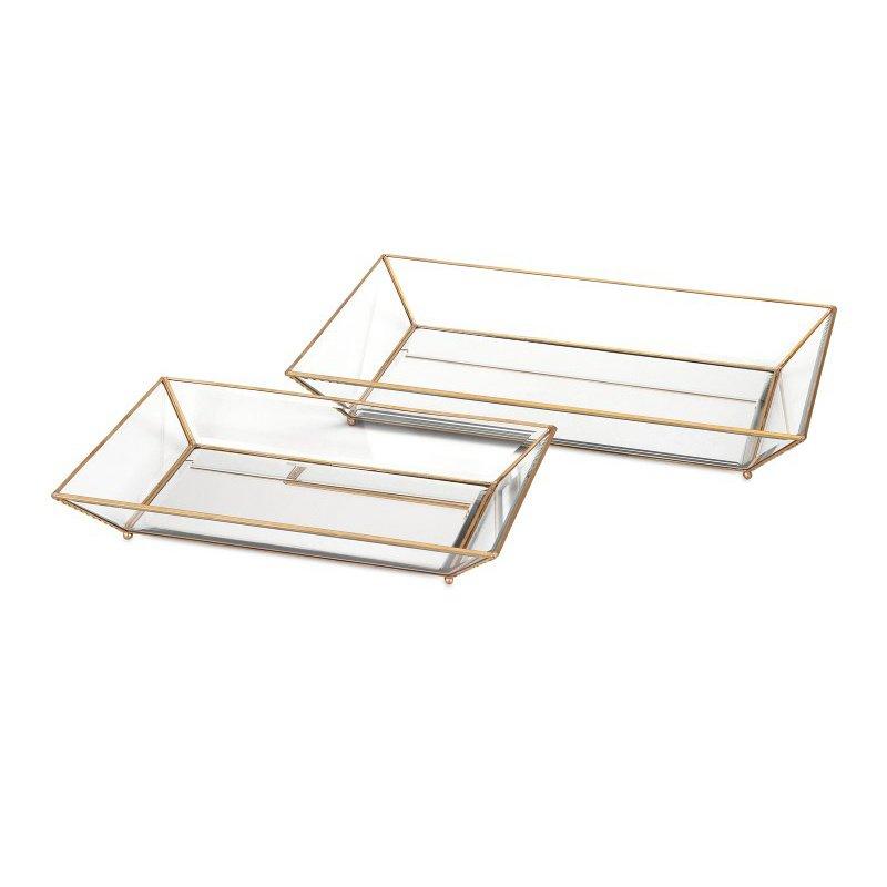 IMAX Maison Decorative Glass Trays - Set of 2 (31511-2)