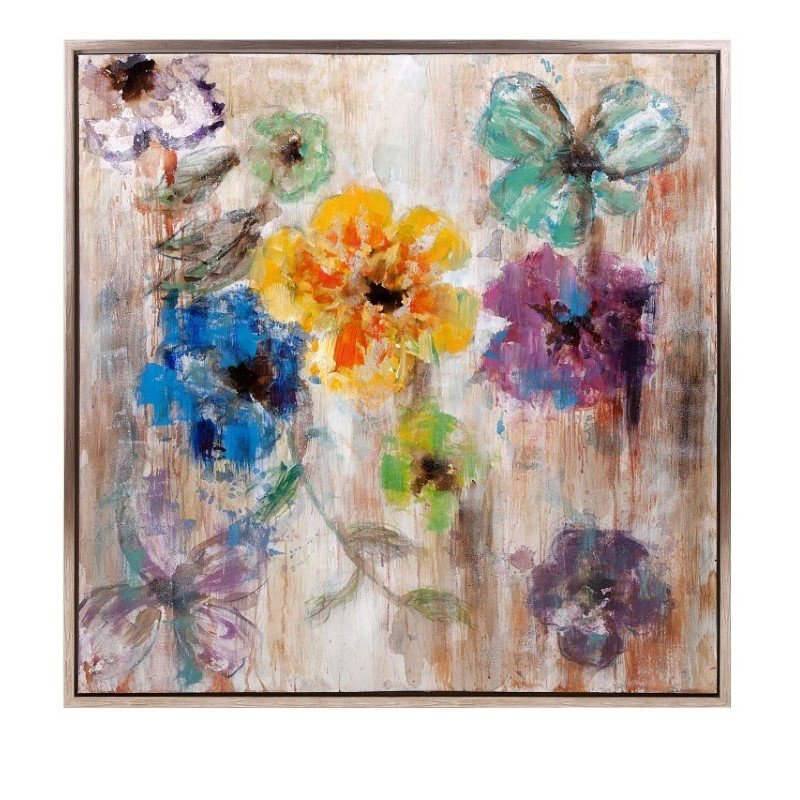 IMAX Maizon Floral Framed Oil Painting (76257)