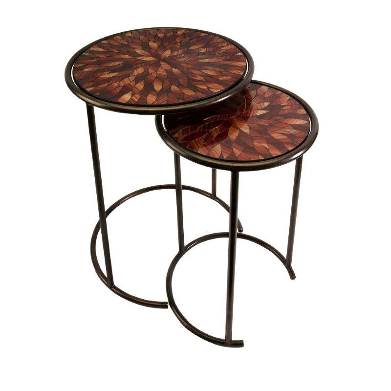 IMAX Mashaka Handcrafted Mosaic Glass Tables - Set of 2 (83015-2)