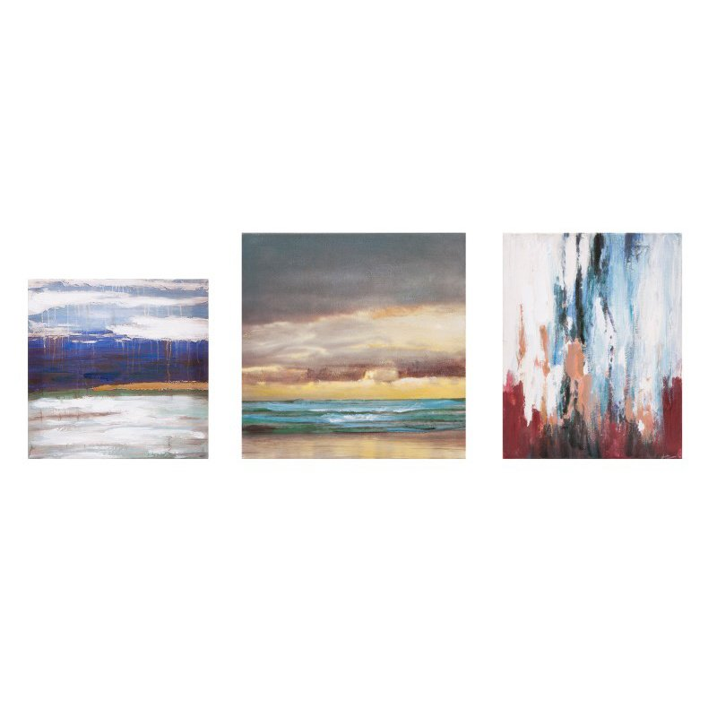 IMAX Miniature Abstract Gallery Art - Set of 3 (47767-3)