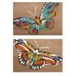 IMAX Nerina Embroidered Butterfly Wall Decor - Set of 2 (A0211613)